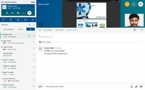 screenshot of screen share with zulu